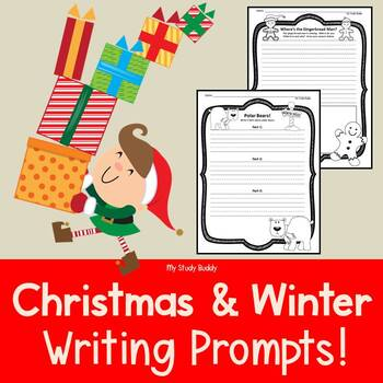 Winter & Christmas Writing Prompts (1st Grade)