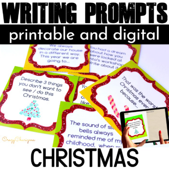 Christmas Writing Prompts {48 cards}