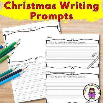 Kindergarten Christmas Writing Prompts (Differentiated)