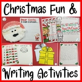 Christmas Writing Prompts, Activities, and Craftivity