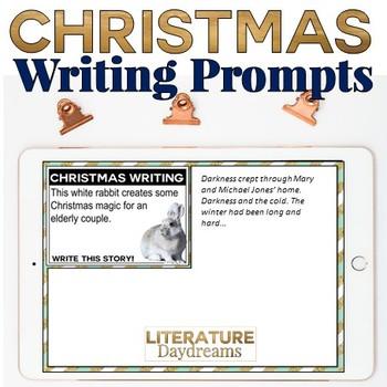Christmas Writing Prompts Digital (Digital Google Drive Edition)