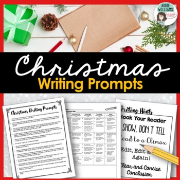 Christmas Writing Prompts - Includes planning pages, rubric and more!