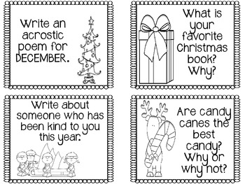 Christmas Writing Prompts--{FREEBIE}