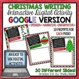 Christmas Writing Prompts - Interactive Digital Google Version