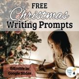FREEBIE! Christmas Writing Prompts -Narratives & Arguments Common Core, EDITABLE