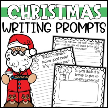 Christmas Writing Prompts.Christmas Writing Prompts Page Topper Craftivities