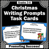Christmas Writing Prompts Task Cards, Christmas Literacy C