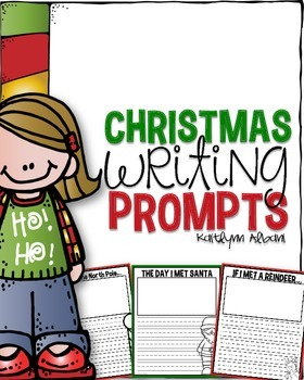 Christmas Writing - Prompts with Writing Papers