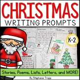 Christmas Writing Prompts for Kindergarten, First Grade, a