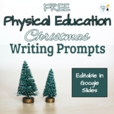 Christmas Writing Prompts for Middle School - Editable in