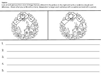 Second - Fourth Grade Christmas Writing - Compare and Contrast
