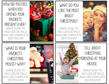 Christmas Writing Prompts {with real photos}