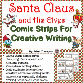 Christmas Writing: Santa Claus and His Elves Comic Strips