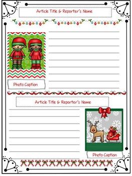 Christmas Writing: Santa Interview & Newspaper Writing Task