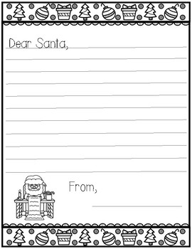 Christmas Writing Santa Letter