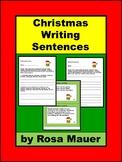 Christmas Writing Sentences Language Arts Activity