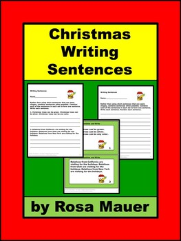 Christmas Writing Sentences Language Arts Activity