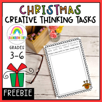 Christmas Creative Thinking Prompts - NO PREP -  Free Download