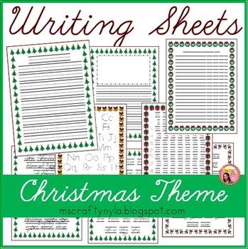 Christmas Writing Sheets