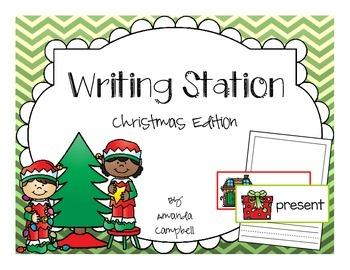 Christmas Writing Station