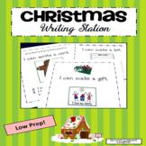 Christmas Writing Station for Kindergarten