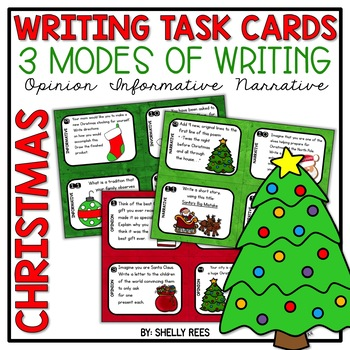 Christmas Writing Task Cards - Common Core - Opinion, Info