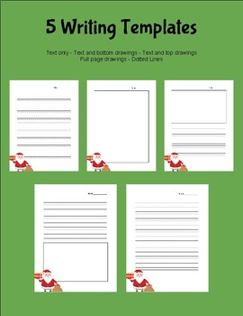 Christmas Writing Templates