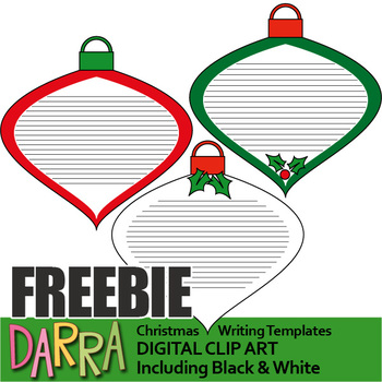 Christmas Writing Templates, Free Clip Art