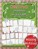 Christmas Writing Templates - Journal pages