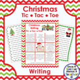 Writing • Tic Tac Toe Choice Board • Christmas