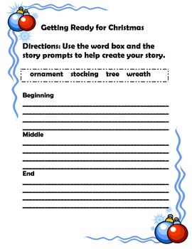 Christmas Writing: With Story Prompts and Word Boxes