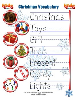 ! a Christmas Writing Worksheet