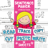 Christmas Writing Worksheet Activities - Differentiated
