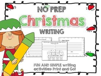 Christmas Writing activities NO PREP
