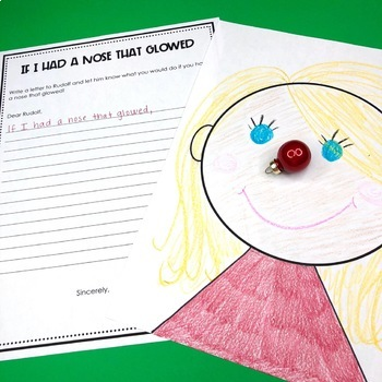 Christmas Writing and Craft- If I Had a Nose That Glowed