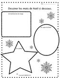 Christmas Writing and Drawing Activities in French