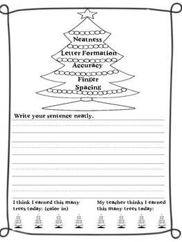 Christmas Writing and Handwriting Pack {Bonus 15 Writing Prompts}