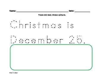 Christmas Writing for Beginners--Differentiated
