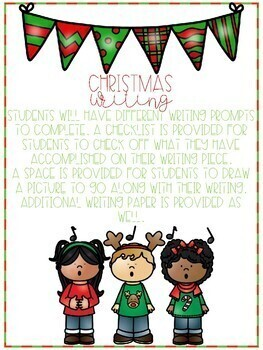 Christmas Writing for Little Learners