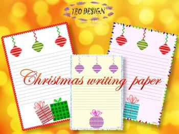 Winter Activities - Writing paper