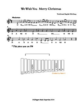 Christmas Xylophone Music Stations / Centres
