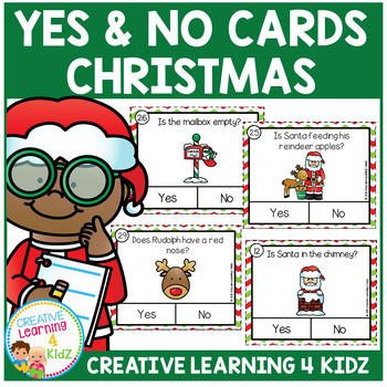 Christmas Yes & No Picture Question Task Cards