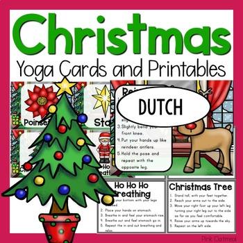 Christmas Yoga Cards and Printables - Dutch