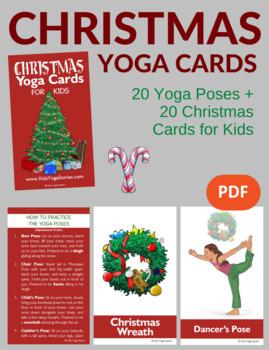 Christmas Yoga Cards for Kids