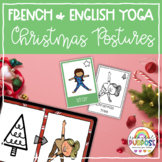 Christmas Yoga Posture Cards in French and English // Kind