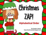 Christmas ZAP! Alphabetical Order
