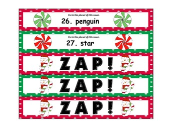 Christmas ZAP! Forming Plural Nouns