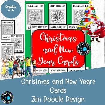 Christmas ZEN cards for colouring