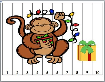 Christmas Number Puzzles - Zoo Math