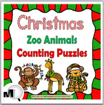 Zoo Math Counting Puzzles - Christmas Activity - Numbers 1-120